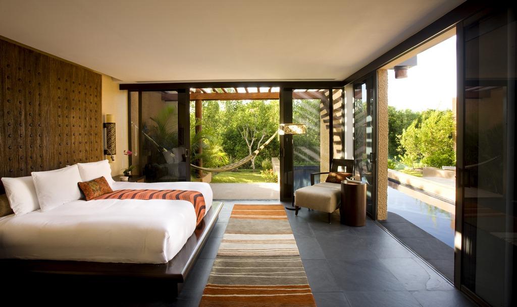 Banyan Tree Mayakoba Spa Pool Villa Bedroom
